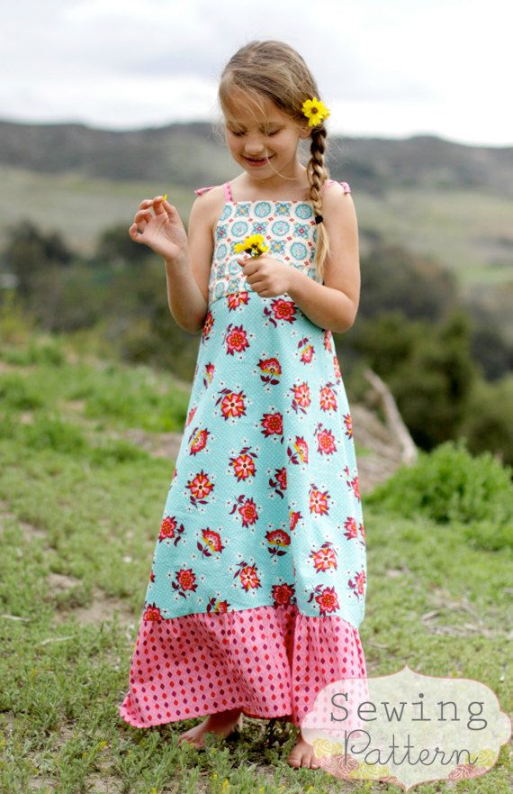 maxi dress age 8 9 inch