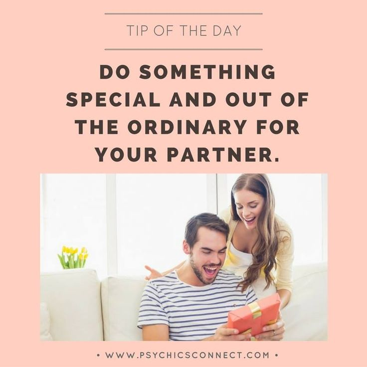 Do something special and out of the ordinary for your partner. Finding the right person is just half the battle, the other half is making the love and relationship last. Remember to keep your #relationship alive, fun and exciting. Surprise your partner - buy him/her a gift or flowers, prepare his/her favourite dinner, ask him/her on a date, do something new together – keep things interesting and exciting.