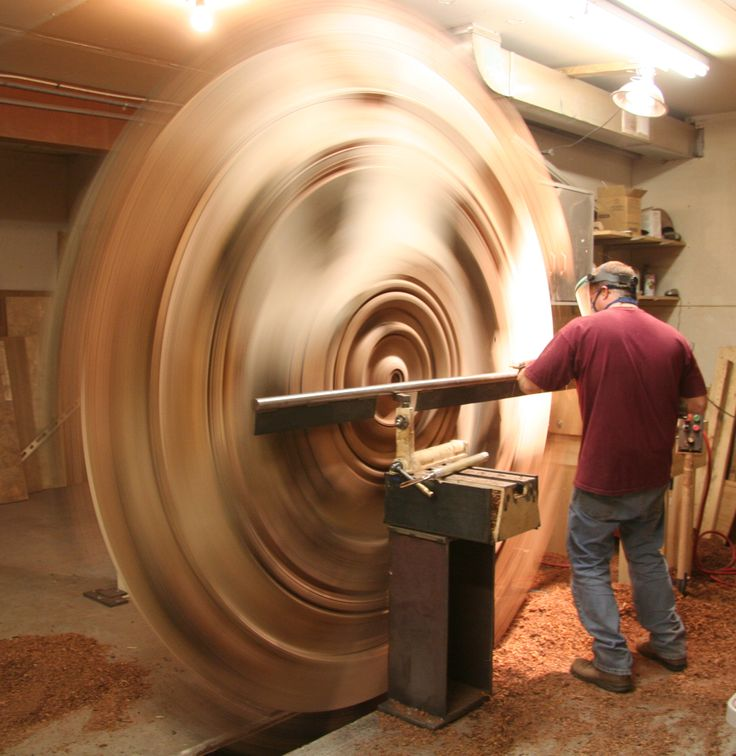 What could possibly go wrong?  Speechless – Huge Wood Turnings by David Barkby