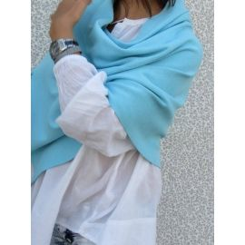 Knitted Shawl - Light Blue