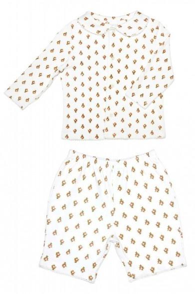 Enfant Cotton Rose Printed Pyjama Set