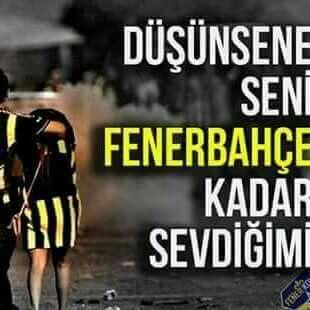 Sevdim bile dönüşü yokmuş öyle dediler çünkü Fenerbahçe kadar sevmişim.