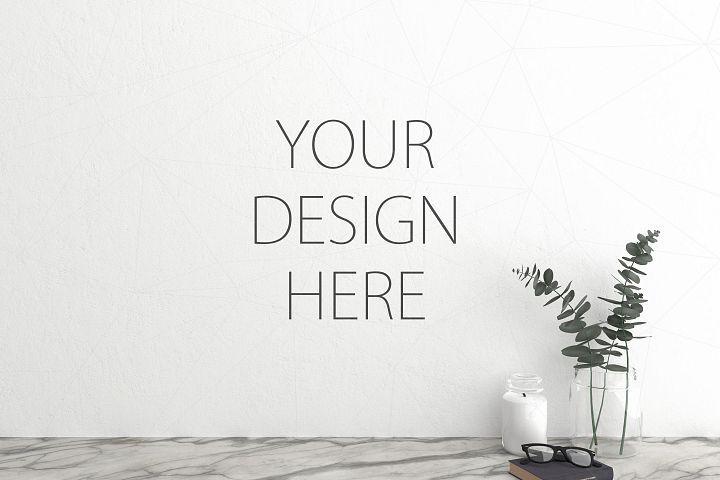 Interior Mockup Blank Wall Mock Up 37896 Mockups Design Bundles Mockup Design Business Card Mock Up Mockup