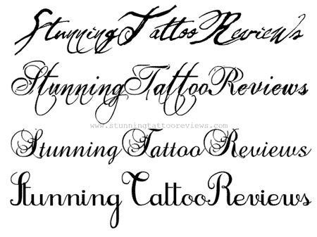 50 Cursive Fonts and Letters for Tattoos