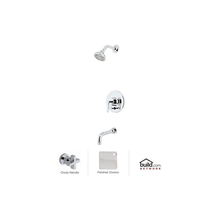 Rohl LOKIT21XM Lombardia Shower System with Shower Head Shower Arm Tub Spout