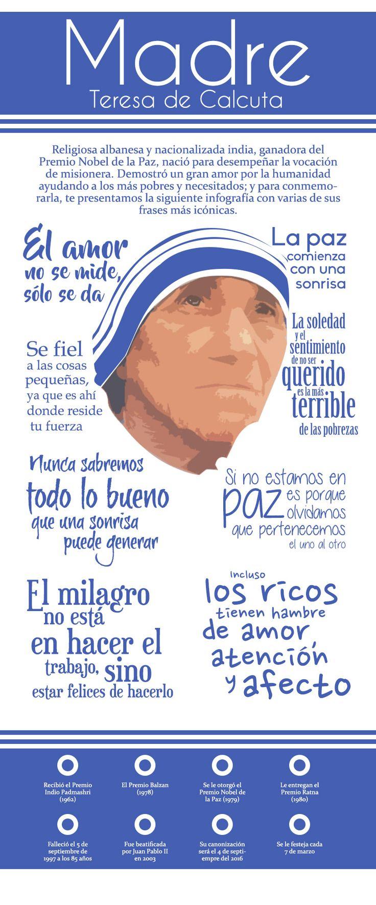 En memória a la vida de la Madre Teresa de Calcuta, te presentamos algunas de sus frases