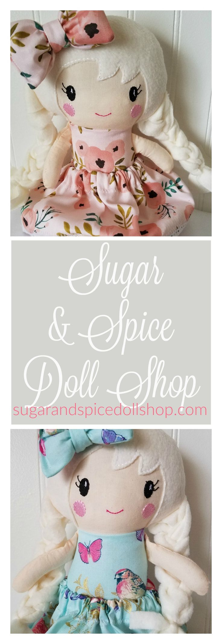 Beautifully Handcrafted Dolls, Clothes and Accessories including the Pinterest hit, Swaddle Babies!  www.sugarandspicedollshop.com