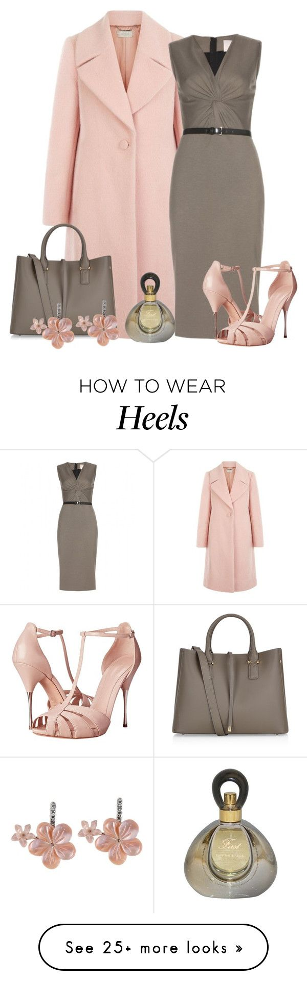 """""""Stretch Jersey Dress With Coat"""" by malathik on Polyvore featuring Hobbs, Accessorize, Jason Wu, First People First, Alexander McQueen, Van Cleef & Arpels, women's clothing, women, female and woman"""