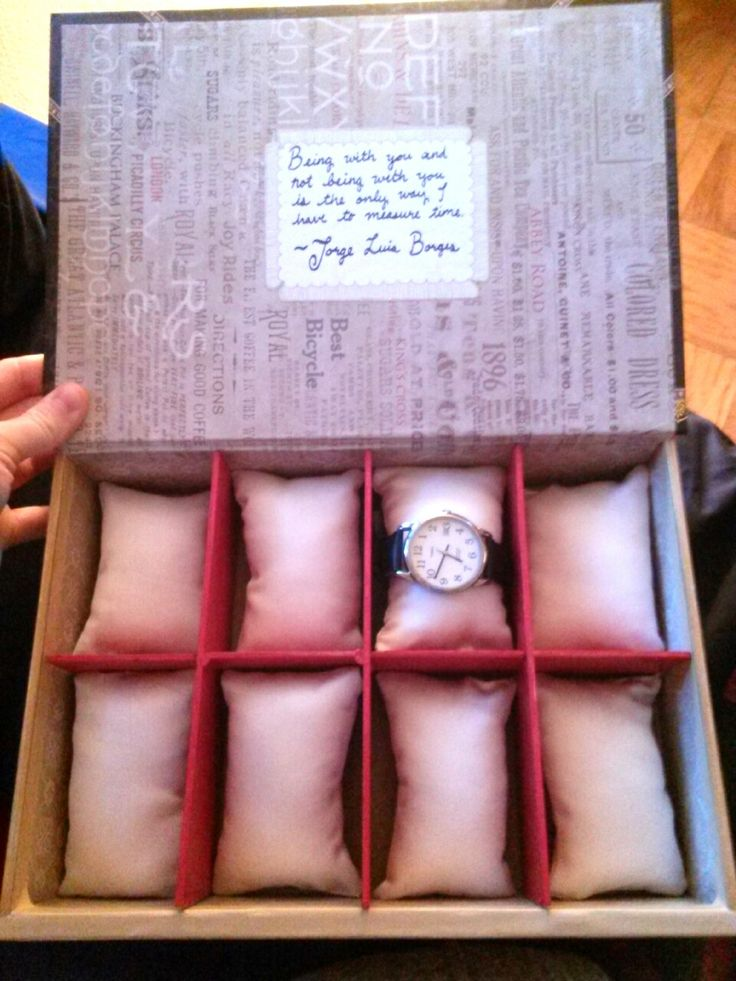 DIY Watch Box omg. I'm totally doing this for bandar for Christmas!