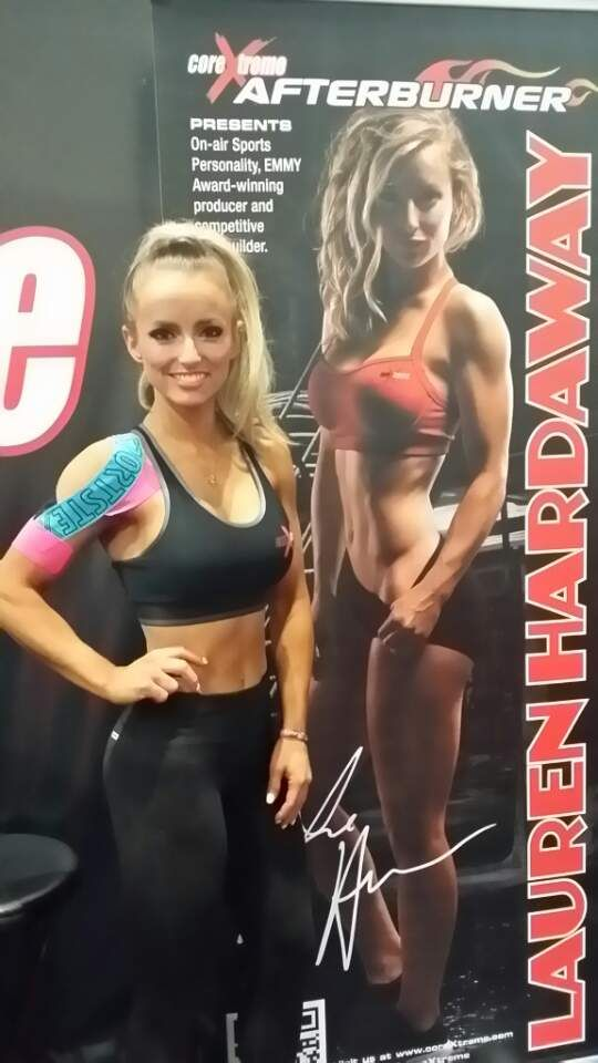 Lauren Hardaway with SportsTex Tapes!