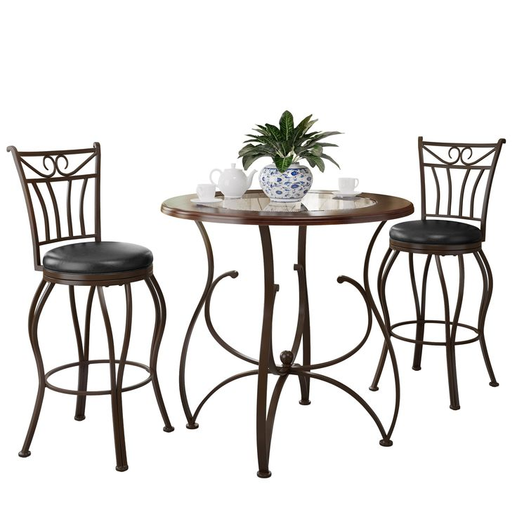 corliving jericho 3piece counter height barstool and bistro table set - Bistro Table Sets