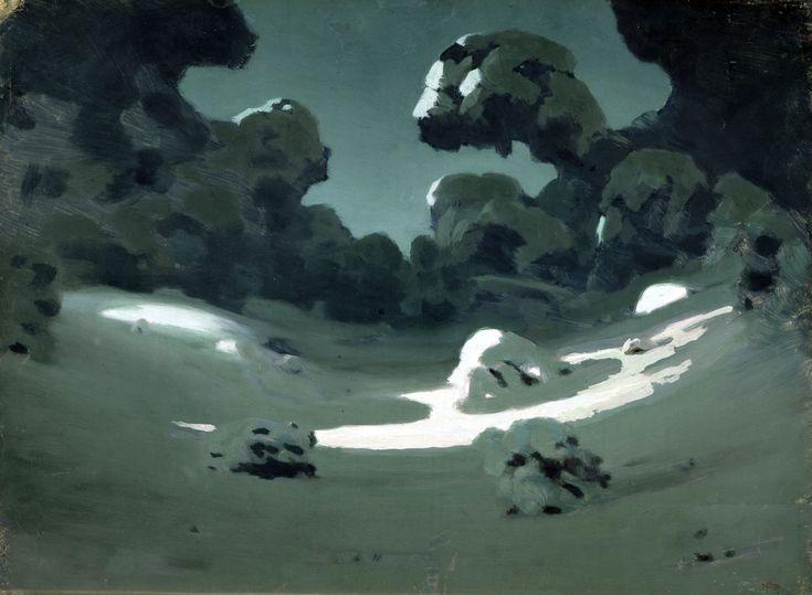 А. Куинджи. Пятна лунного света в лесу. Зима. 1898-1908. ГРМ