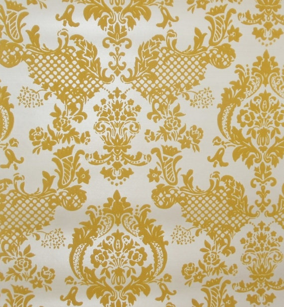 Metallic Flocked Gold Yellow Wallpaper   I Canu0027t Believe Flock Wallpaper Is  Back In Fashion   Furry Walls Whatu0027s That About?