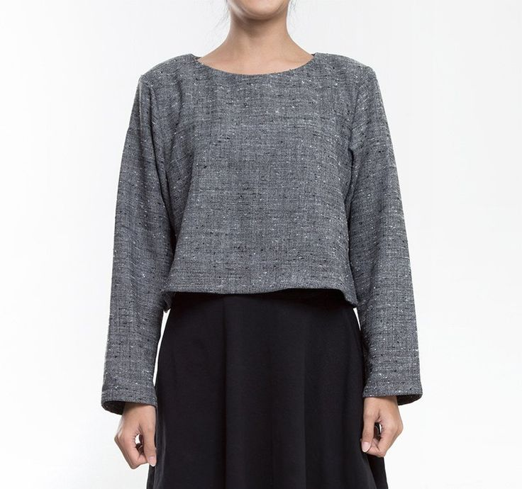 Keep yourself warm with this Grey Long Sleeve by Curious. A simple long sleeves top to keep you warm in cold weather. Now you know what to wear with you favorite skinny jeans. http://www.zocko.com/z/JKCMk