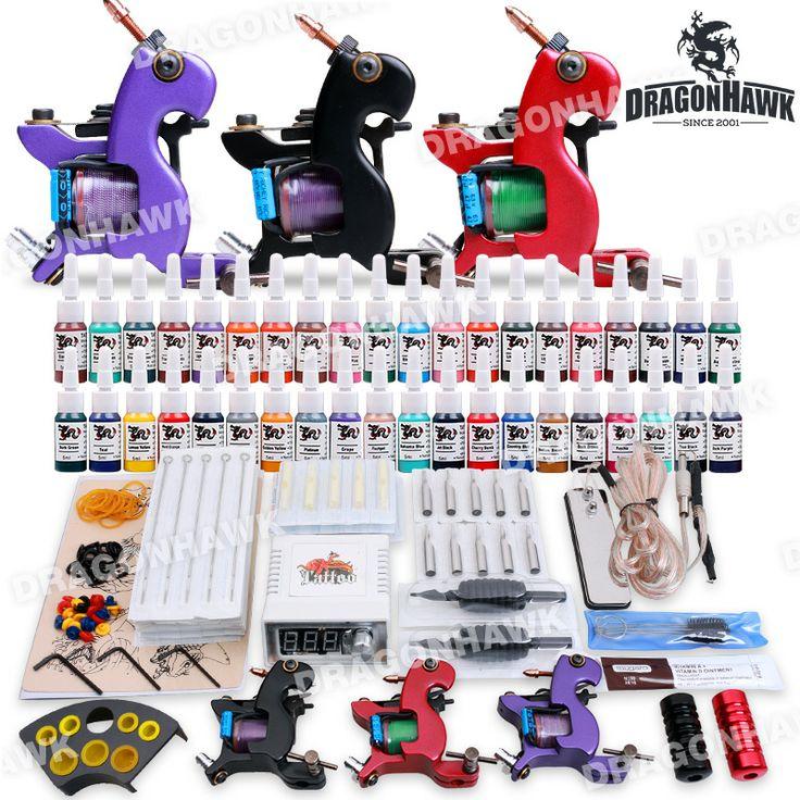 Professional Tattoo Kit 3 Top Machines 40 Color Inks Power [DIY-280(2.5)] - US$42.99 : Dragonhawk tattoo supplies, tattoo kits,tattoo machines for sale global form tattoodiy.com