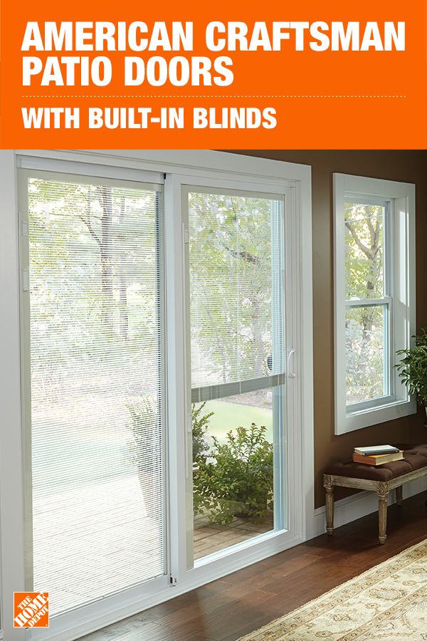 This Innovative And Contemporary Gliding Patio Door Features Blinds Between Two Panes Of Glass This Design A Craftsman Patio Doors Patio Plans Sunroom Designs