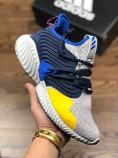 dfa44d067 Mens Winter Adidas AlphaBounce Instinct CC M Sand grey bright yellow  navy royal blue white