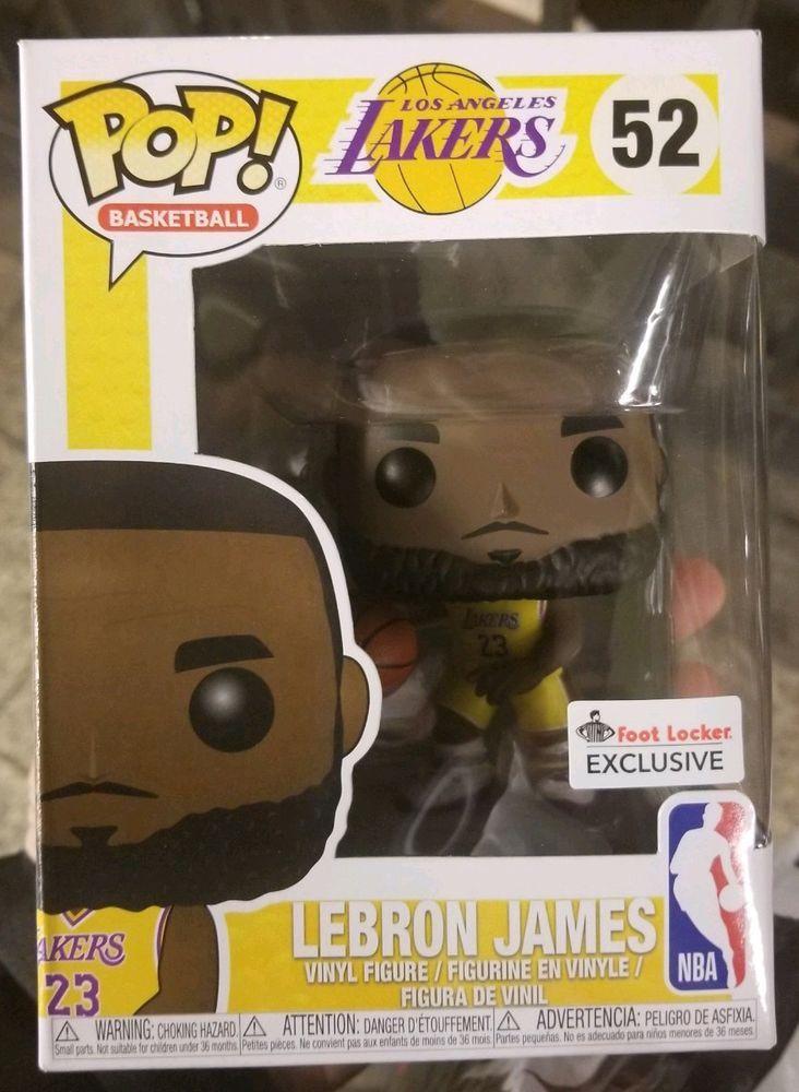 RARE FOOTLOCKER EXCLUSIVE Funko POP 52 Lakers LeBron James Yellow Gold  Jersey 318b17673