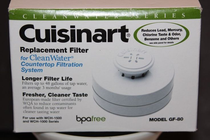 Cuisinart GF-80  Cleanwater Countertop Replacement Filter White 1 New #doesnotapply