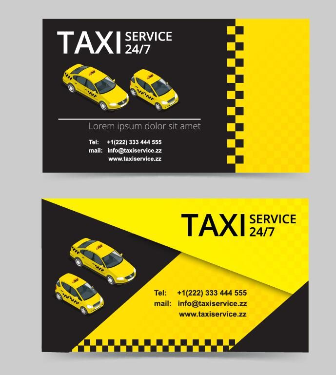 Free Eps File Taxi Service Business Card Template Vector Download
