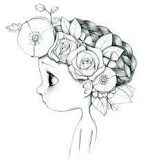 petite fille couronne de fleurs