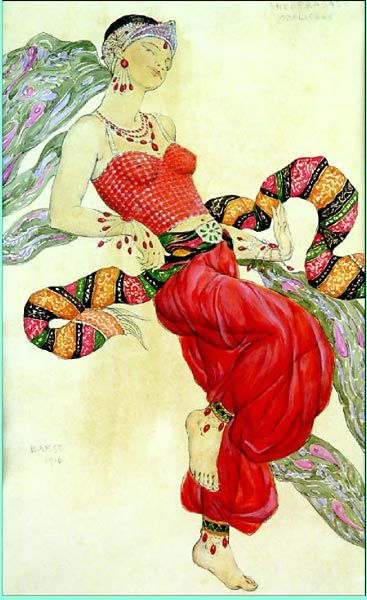Léon Bakst (Grodno, Belarus 1866~1940 Paris, France): LES BALLETS RUSSES #ballerina #beauty #art