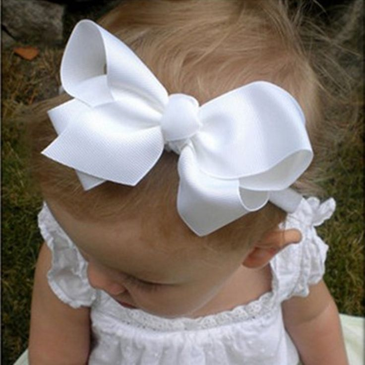 Baby Girls Big Bow Headband Infant Bebe Hair Accessories Elastic Hair Bands bow Baby Girls Headbands 1pc HB179