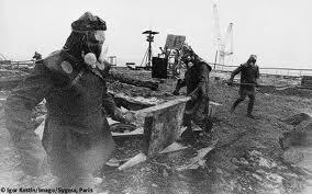 Liquidators of Chernobyl (1986).