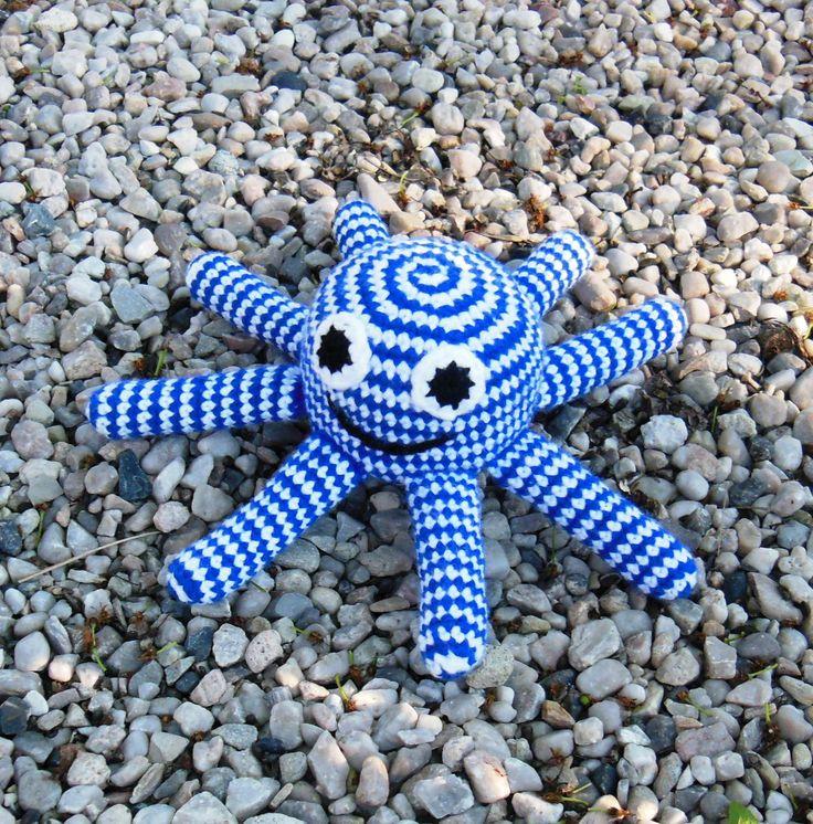Octopus+pruhus+Háčkovaná+chobotnice