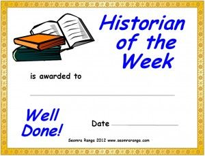 Historian of the Week