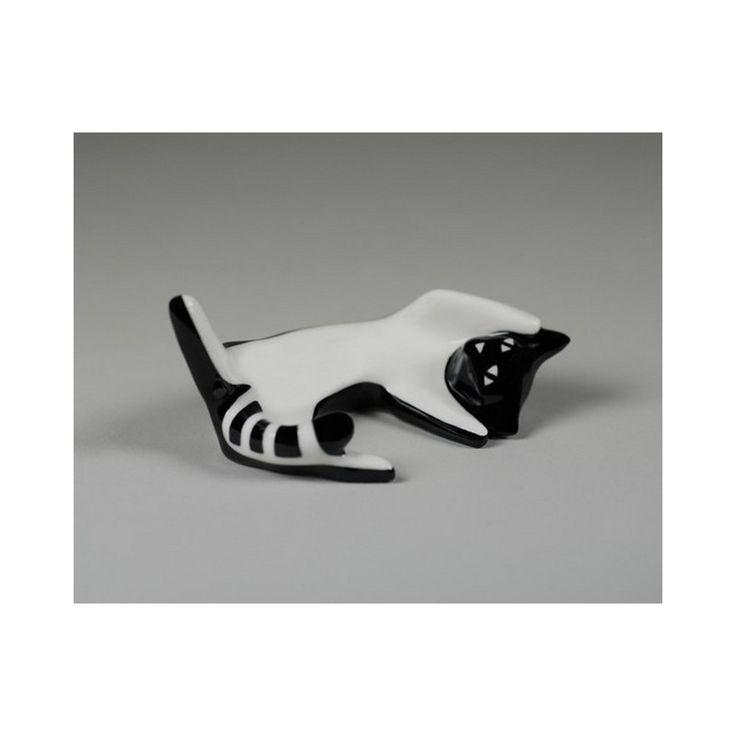 Porcelana AS Ćmielów. Kot milusiński