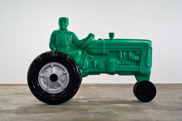 Charles Ray - father figure  2007 / painted steel / 93 3/4 x 137 1/4 x 71 3/4 inches
