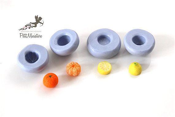 Kit Stampo 4 stampi silicone mandarino e di PetitMiniatures