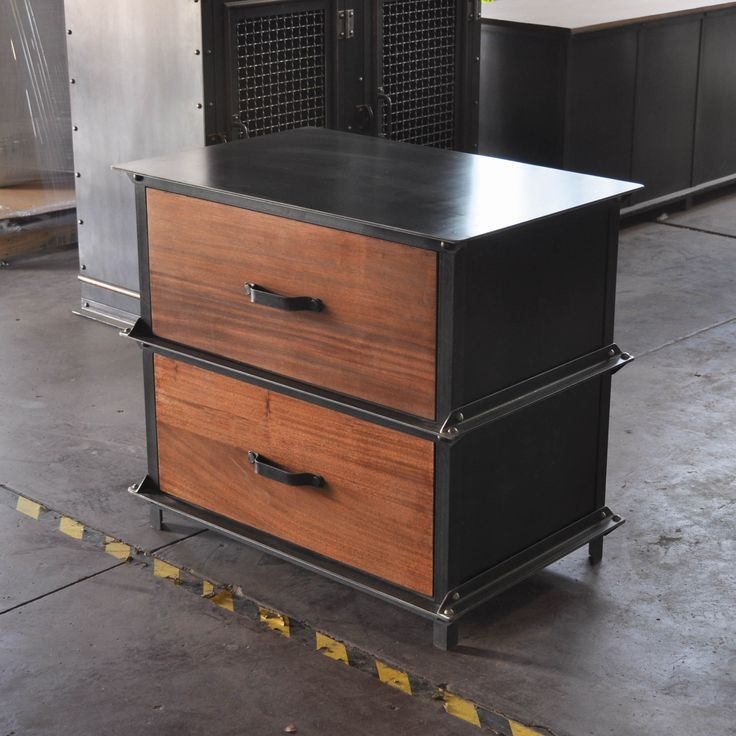 Custom Ellis Storage Filing Cabinet With Mahogany Faces