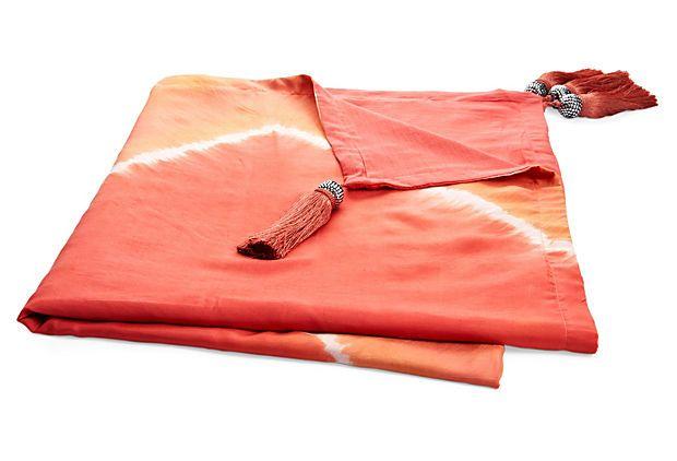 Brightening up the living room. Saffron Throw in Sherbert Silk, $69 on OneKingsLane.com