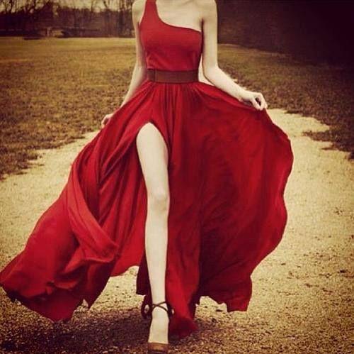 Vestido largo, rojo. Red Dress.