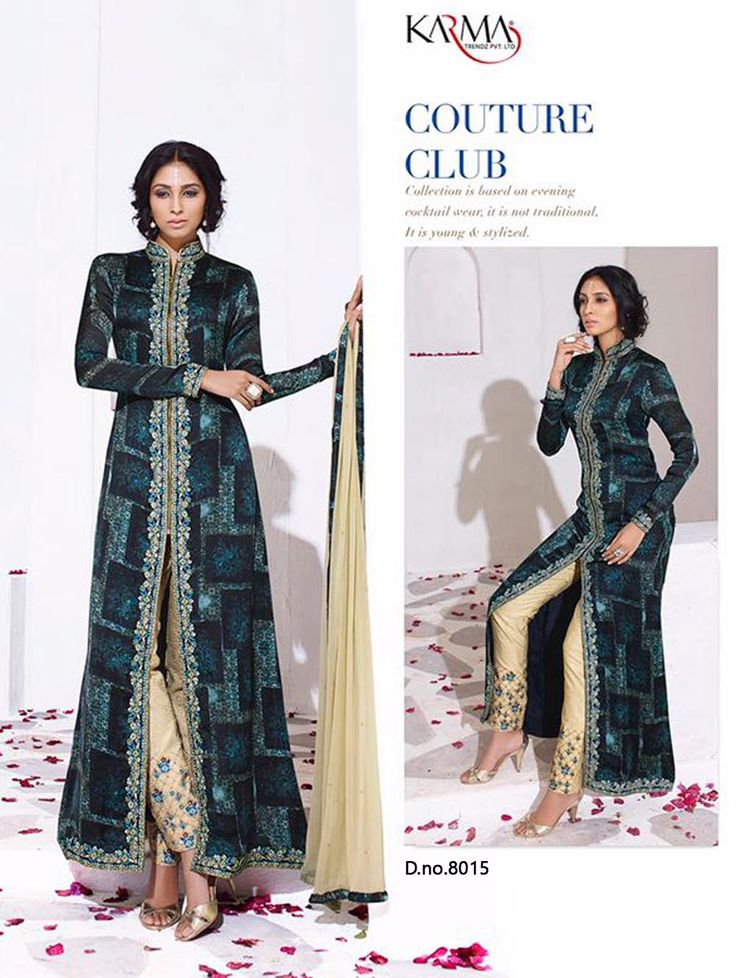 Latest Designer Suit. Top   Raw Silk With Embroidery Bottom + Inner    Digital Printed