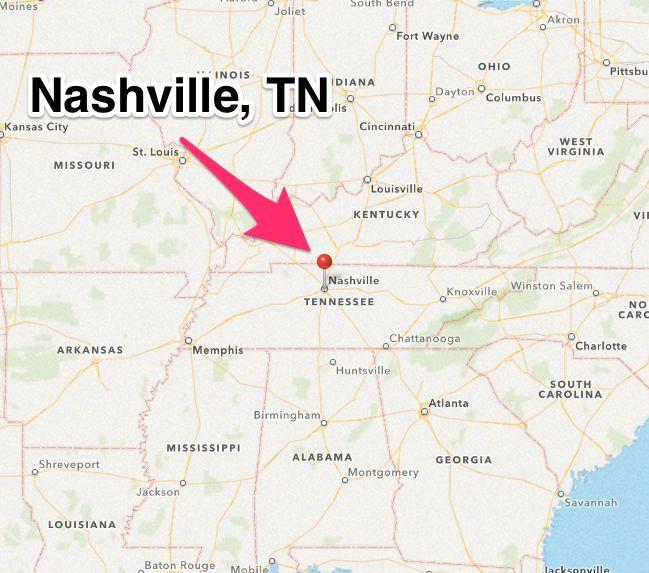 Nashville City Map Vintage Map Of Nashville By Seashoreprints - City map of tennessee