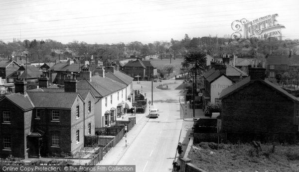 Burgess Hill, Worlds End From Station c.1965, from Francis Frith