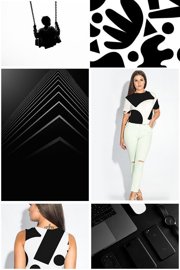 Woman Plus Size T Shirt Mockup Bundle Psd Files For Download On Creative Market Monochromatic Black And White Mood Board With Beatiful Brunette Woman Idea For