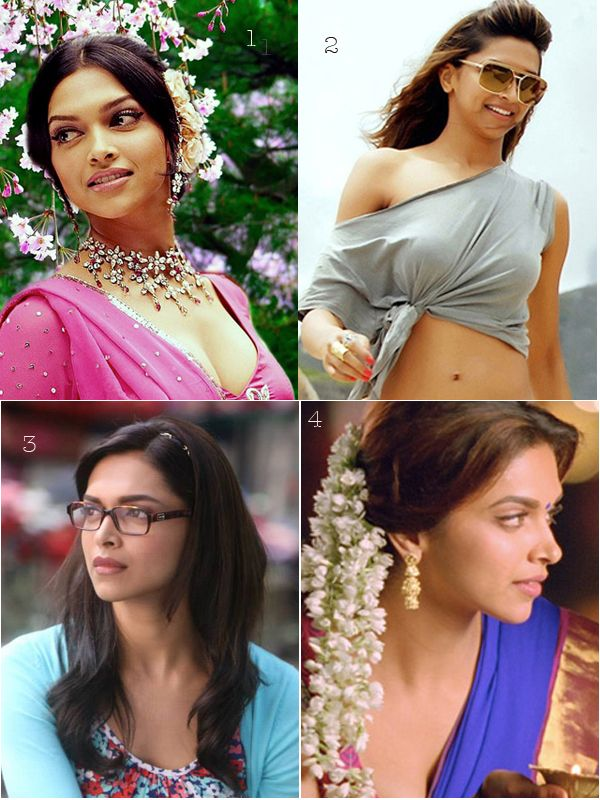 Which character suits most for Deepika Podukone ? 1- Om Shanti Om  2- Cocktail 3- Yeh Jawaani Hai Deewani  4- Chennai Express