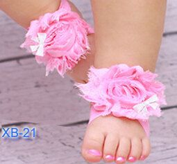 Flower Baby Sandals  Baby Bare Foot Sandals  Baby by linydress, $7.00