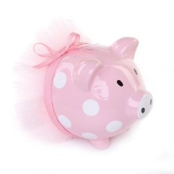 I collect piggy banks so this will be the first thing my little girl gets!