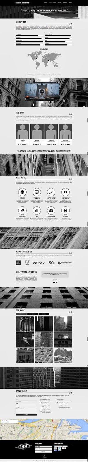 Concrete Playground One Page #Muse #Theme  #web #design #onepage #adobe #template ->