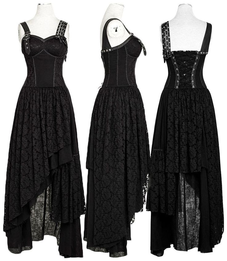Punk Rave Black Gypsy Dress - £89.99 :From ANGEL CLOTHING