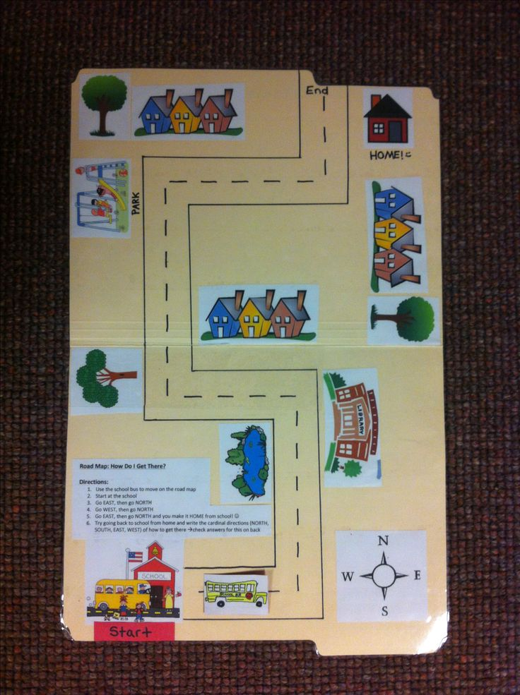 this is a geography work job for 1st grade called  u0026quot road map  how do i get there  u0026quot