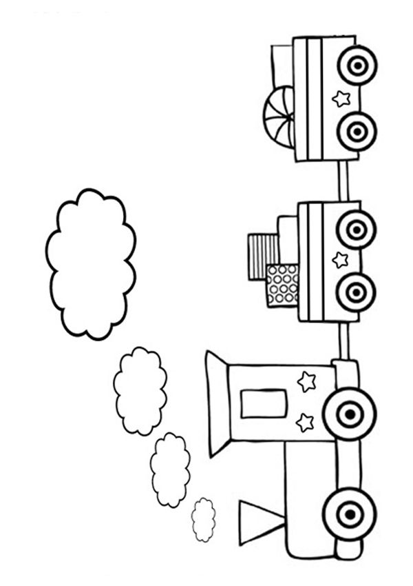 coloring pages trains preschoolers development - photo#24