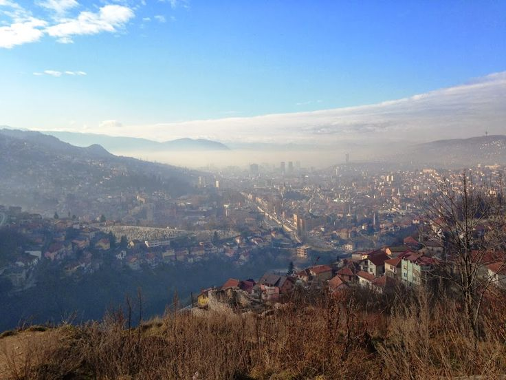 Sarajevo from Bijela Tabija (white bastion) Top 8 panoramic spots to admire #Sarajevo from above || Read my blogpost here: http://www.blocal-travel.com/balkans/8-fascinating-viewpoints-to-admire-html/