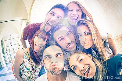 Best Friends Taking Selfie And Having Fun Together - Download From Over 50 Million High Quality Stock Photos, Images, Vectors. Sign up for FREE today. Image: 60115489