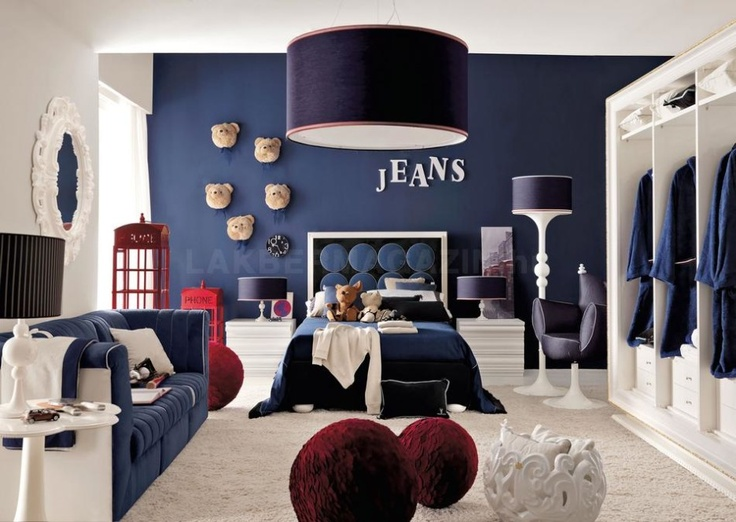 cute and colorful little boy bedroom ideas red white and blue denim themed boys room - Boys Bedroom Design